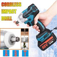 18V 588Nm Electric Brushless Impact Wrench Rechargeable 1/2 Socket Wrench Power Tool Cordless for Makita Battery Accessories