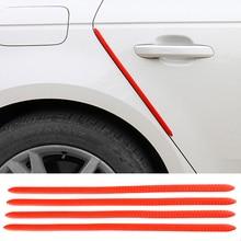 4PCS 40X1.3CM רכב דלת הגנת קצה גומי אוטומטי פגוש מגן משמר שריטה מדבקת לבן שחור לקצץ אוניברסלי רכב סטיילינג