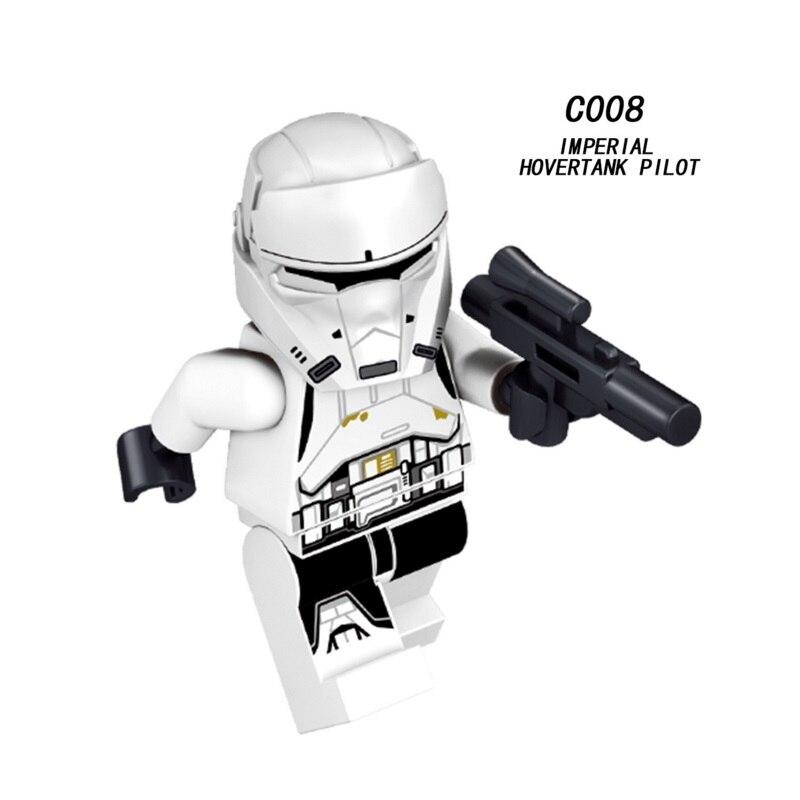 Mini Imperial Hovertank Pilot Figure Star War Rebel Trooper Building Blocks Figure Bricks Toys Kids Gift Legoingly Ninjaed