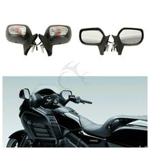 цена на Motorcycle Rear View Mirror With Signal For Honda Goldwing GL1800 F6B 2013-2017