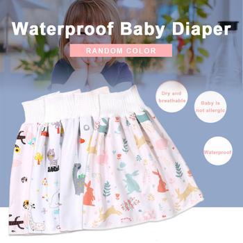 Baby pielucha wodoodporna spódnica spodnie 2 w 1 wygodne Unsex wodoodporne i chłonne spodenki luźne spodenki Harem bielizna dla dzieci tanie i dobre opinie Pasuje prawda na wymiar weź swój normalny rozmiar CN (pochodzenie) 120g POLARTEC 292WJX COTTON Baby Waterproof Diaper Skirt Pants