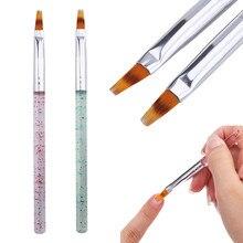 Prego sombra caneta unha arte gradiente cor escova uv gel pintura 3d dicas efeito acrílico caneta titular escova durável 1pc escovas de unhas