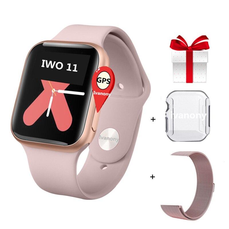 GPS SmartWatch IWO 11 Smart Watch Women IWO11 Heart Rate Monitor Call Message Reminder for Iphone Android VS IWO 9 IWO 8 W34