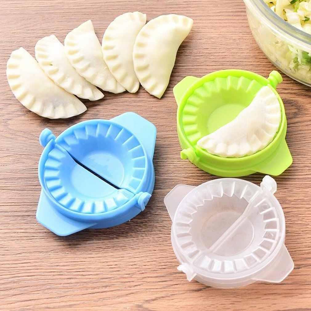 อุปกรณ์ครัว Home Pack เครื่อง Dumpling เกี๊ยวคู่มืออุปกรณ์แม่พิมพ์ Dumpling คลิป Gadget เครื่องมือสีสันเกรดอาหาร