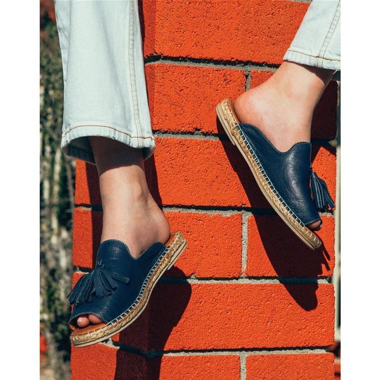 Casual Peep Toe Tassel Flat Sandals Open Toe Wedges Vintage Shoes Woman Sandalias Slippers Slides Mujer Sapato Feminino E2012