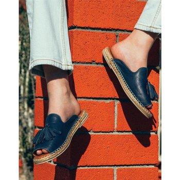 цена на Casual Peep Toe Tassel Flat Sandals Open Toe Wedges Vintage Shoes Woman Sandalias Slippers Slides Mujer Sapato Feminino E2012