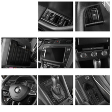 Lsrtw2017 Car Central Control Panel Window Control Gear Panel for Skoda Octavia 2015 2016 2017 2018 2019 2020 Interior Mouldings цена