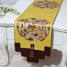 Luxury Lucky Christmas Damask Table Runners Latest Chinese style Home Decor Tea Mat Pad  Silk brocade Dining Cloth