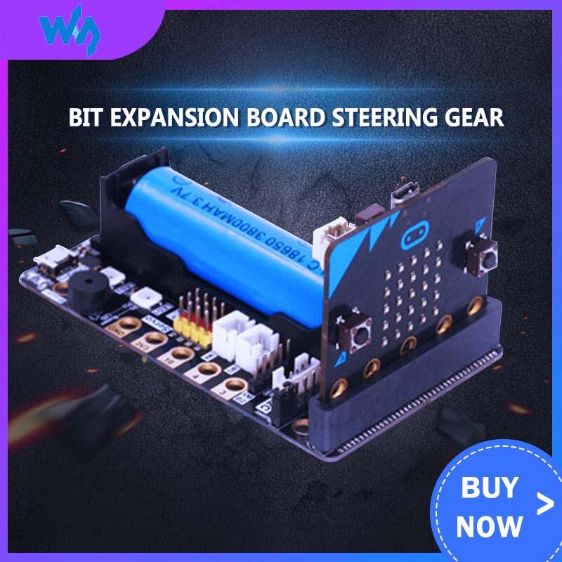 Micro:Bit Expansion Board Building Block Motor Steering Gear Development Drive Board Kit Microbit Sensor GPIO