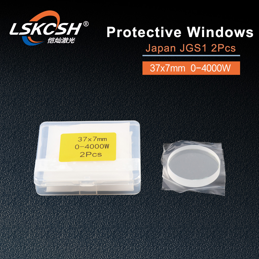 LSKCSH 50pcs/lot fiber laser protective windows OG YD37 d7 37*7mm P0595 58601 0 4000W for precitec Procutter head Ermaksan WSX-in Woodworking Machinery Parts from Tools    1