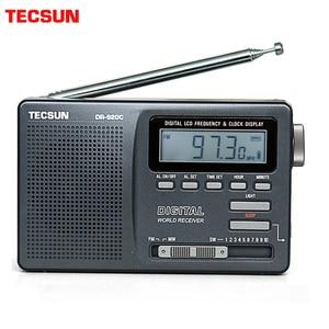Image 1 - TECSUN DR 920C czarny Alarm Radio z budzikiem cyfrowy przenośny wyświetlacz FM/MW/SW wielu zespół o wysokiej czułości LCD Audio Radio kampusu