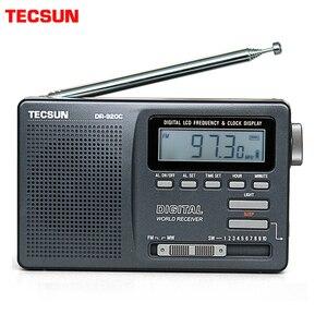 Image 1 - TECSUN – Radio réveil numérique Portable noir, affichage numérique FM/MW/SW, multi bande avec écran LCD haute sensibilité, Audio de Campus, DR 920C