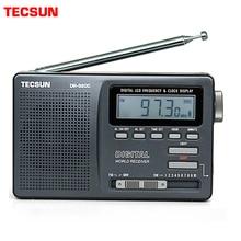 Tecsun DR 920C preto despertador rádio digital display portátil fm/mw/sw multi banda com alta sensibilidade lcd áudio rádio campus