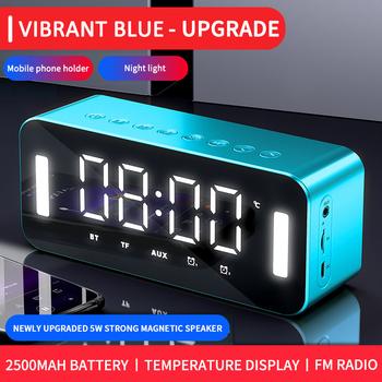 MC-H8 głośnik Bluetooth lustro bezprzewodowy dom Subwoofer telefon zegar Alarm dźwiękowy zegar podświetlany nocny Radio głośnik Radio FM 2021 nowy tanie i dobre opinie OIMG Przenośne Baterii NONE Z tworzywa sztucznego Pełny zakres CN (pochodzenie) 25 W Inne Funkcja telefonu TF card
