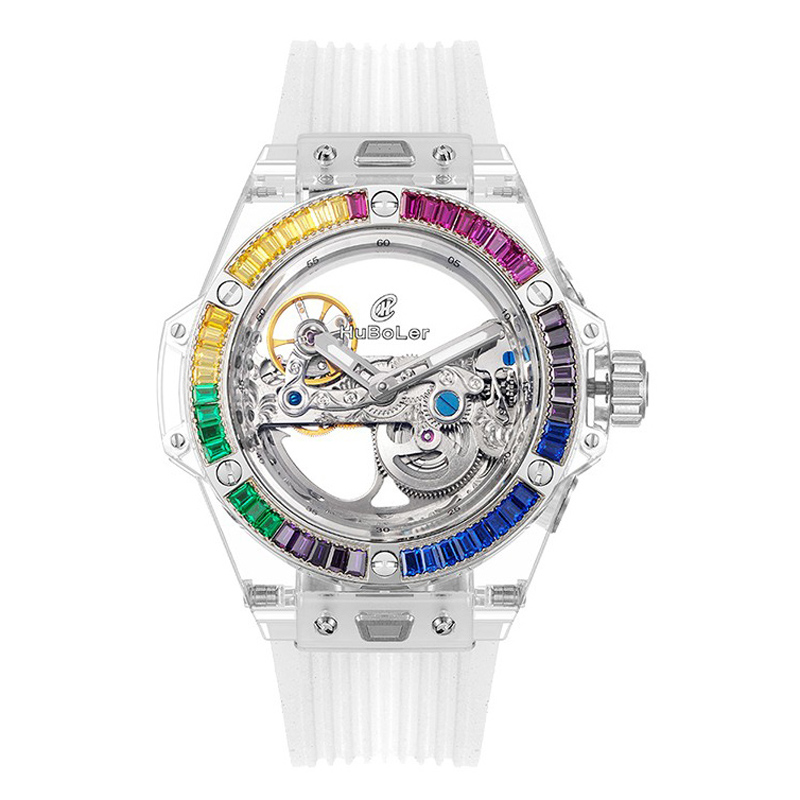 Huboler 42mm Skeleton automatic mechanical watch Watch
