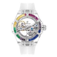 Huboler 47мм скелет Sport хронограф Япония кварцевые часы os020