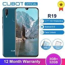 Cubot R19 Android 9.0 19:9 3GB 32GB Quad Core Fingerprint Smartphone 5.71''Water Drop Screen Dual Ba