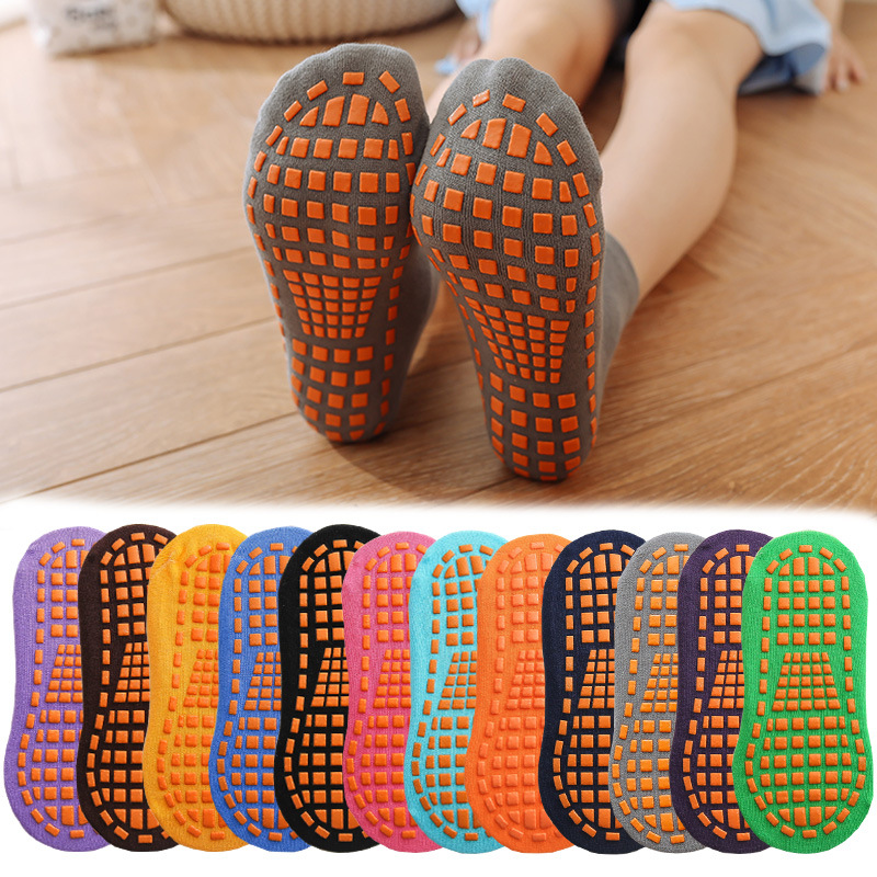 Kids Adults Anti-Slip Sock Trampoline Sock Cotton Breathable Short Socks Elasticity Sport Boy Girl  Outside Child Socks