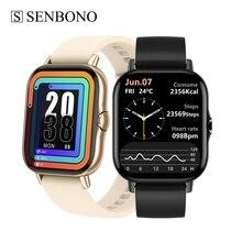 SENBONO DT94 inteligentny zegarek mężczyźni kobiety sport IP68 wodoodporna ekg zegarek Fitness, Tracker dla IOS Android połączenie BT inteligentny zegarek