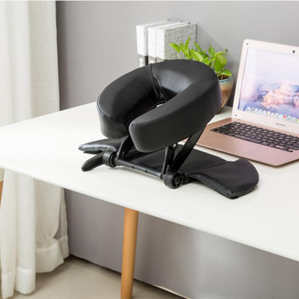 Mousse SPA Massage Table oreiller U forme traversin Face vers le bas berceau sieste coussin de couchage pour bureau école voyage Salon - 2