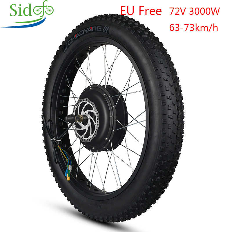 ebike Conversion Kit 20 26 MTB Motor Wheel  Electric Motor 72V Fat Bike 3000W Hub Motor Bike Rear Wheel Electric Bike Kit
