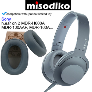Image 5 - Misodiko cojines de repuesto almohadillas para los oídos para Sony MDR 100A MDR 100AAP/ h. Ear on 2 MDR H600A, piezas de reparación de auriculares Earpads Cup