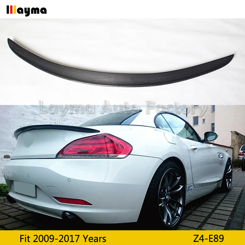 3D style Carbon Fiber rear trunk spoiler For BMW Z4 E89 sDrive20i 23i 28i 30i 35i 2009-2017 year Z4 3D styling Car spoiler Wing