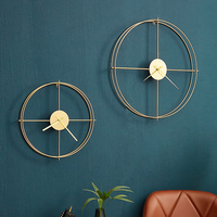 Wrought Iron Wall Clocks Metal Wall Decorations Living Room Wall Pendant Creative Simple Home Decoration Office Ornaments