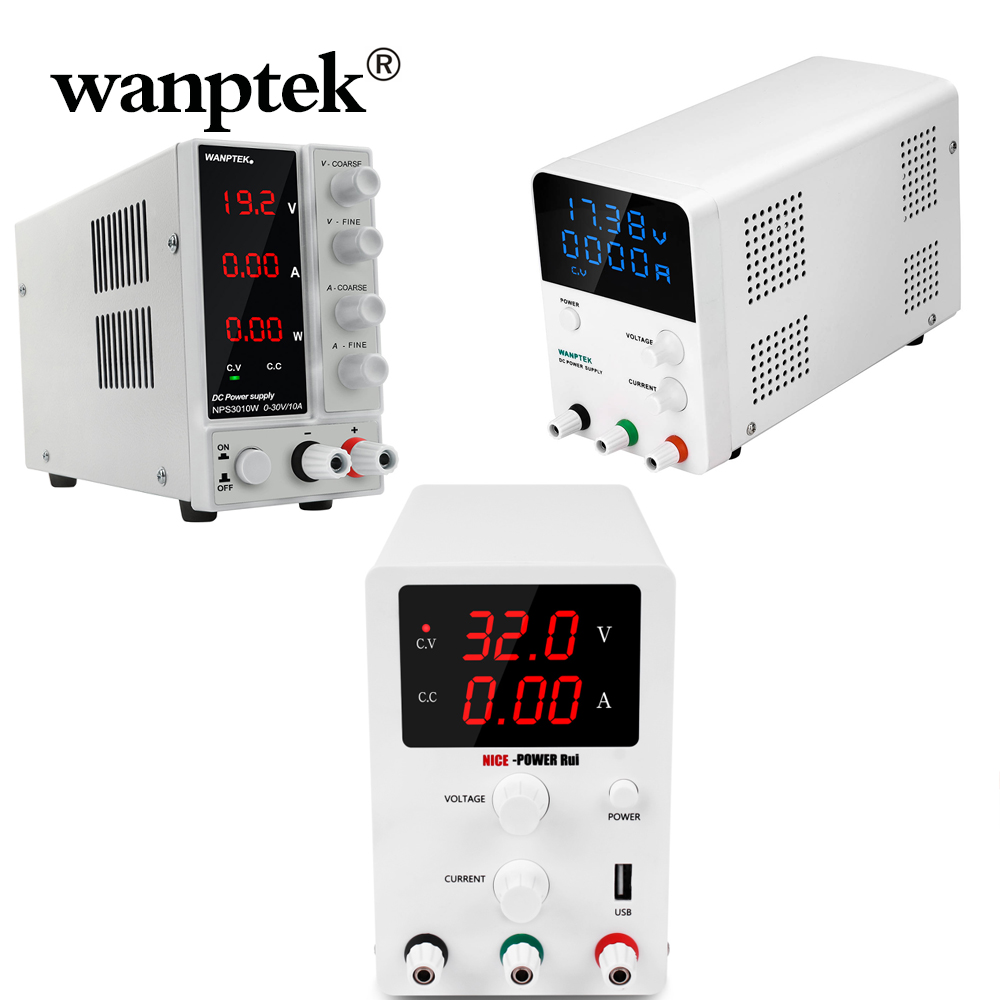 Wanptek <font><b>DC</b></font> Lab Regulated Power <font><b>Supply</b></font> Adjustable Lab 30V 10A 5A 6A Switching Power Source Voltage Regulator Stabilizers <font><b>30</b></font> <font><b>V</b></font> DIY image
