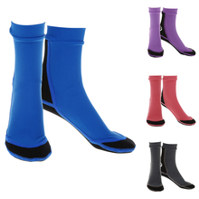 1.5mm Neoprene Beach Aqua Yoga Socks Non-slip Surfing Boots for Sand Playing Scuba Diving Snorkeling Swimming & All Water Sports