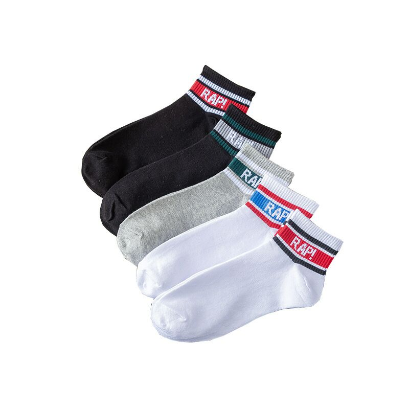 Men's fashion tide socks skateboard hip hop socks men's sports socks cotton men's socks slip breathable sweat
