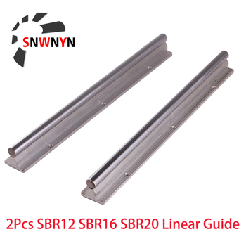 SBR12 SBR16 SBR20 Linear Guide Rail 2PCS 12mm 16mm 20mm Length 300 500 1000mm Fully Supported Linear Rail Shaft Rod For CNC Part hgr30 hiwin linear rail 2pcs 100% original hiwin rail hgr30 1000mm rail 4pcs hgw30ca blocks for cnc router