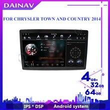 12,8 pulgadas 2 din coche estéreo reproductor GPS rotación Radio Universal para CHRYSLER, ciudad y país 2014 cabeza de Radio de coche unidad Autoradio