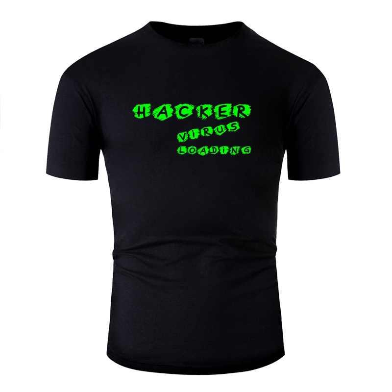 Stampato Naturale Virus Hacker di Carico Mens T-Shirt In Cotone Nero T-Shirt Da Uomo Vestiti di Formato Xxxl 4xl 5xl di Alta Qualità