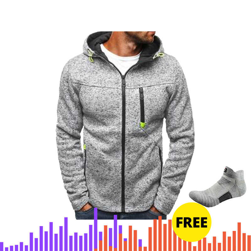 Mannen Sport Casual Wear Rits Mode Tij Jacquard Hoodies Fleece Jas Herfst Sweatshirts Herfst Winter Jas mannen sweater