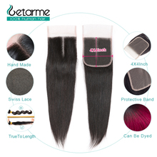 """Getarme бразильские прямые человеческие волосы, завязанные вручную, 4 """"x 4"""", швейцарское кружево, не накладные волосы Remy, 8 20 дюймов, натуральный цвет, 1 шт."""