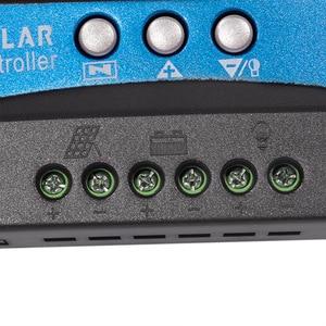 Image 4 - 30/40/50/60/100A MPPT שמש תשלום בקר כפולה USB LCD תצוגת 12V 24V אוטומטי שמש פנל מטען רגולטור עם עומס