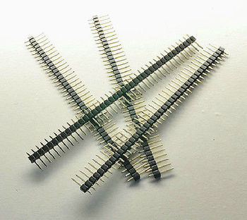 DHL/EMS  500PCS Gilded Pin Header 40 Pin 2.54 mm Single Row Connectors for PCB Programmer -A8
