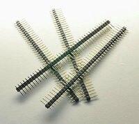DHL/EMS 500PCS Gilded Pin Header 40 Pin 2 54mm Einreihige Anschlüsse für PCB Programmierer A8-in Batteriezubehörteile und Ladezubehör aus Verbraucherelektronik bei