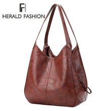 Vintage Women Hand Bag Designers Luxury Handbags Women Shoulder Bags Female Top-handle Bags Fashion Brand Handbags Casual Totes cheap FH HERALD FASHION Bucket Messenger Bags COVER Soft Silt Pocket 191107H Polyester Versatile Solid Interior Slot Pocket NONE