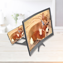 12 Inch Mobile Phone Movie Curved 3D Screen Enlarger Magnifier HD Mobile phone Video Amplifying Movie Projector Stand Bracket