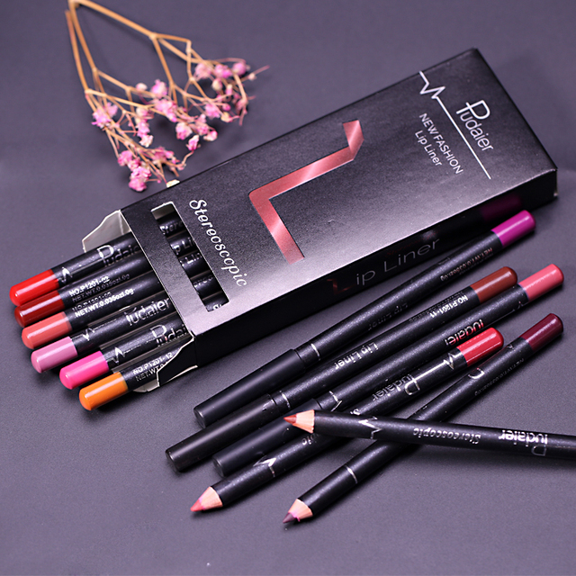 1 Colors/Set Sexy Matte Lip Stick Lipliner Lip Liner Pencil Matt Nude Lipsliner Pen Set Beauty Makeup Tool Cosmetic For Lips 3