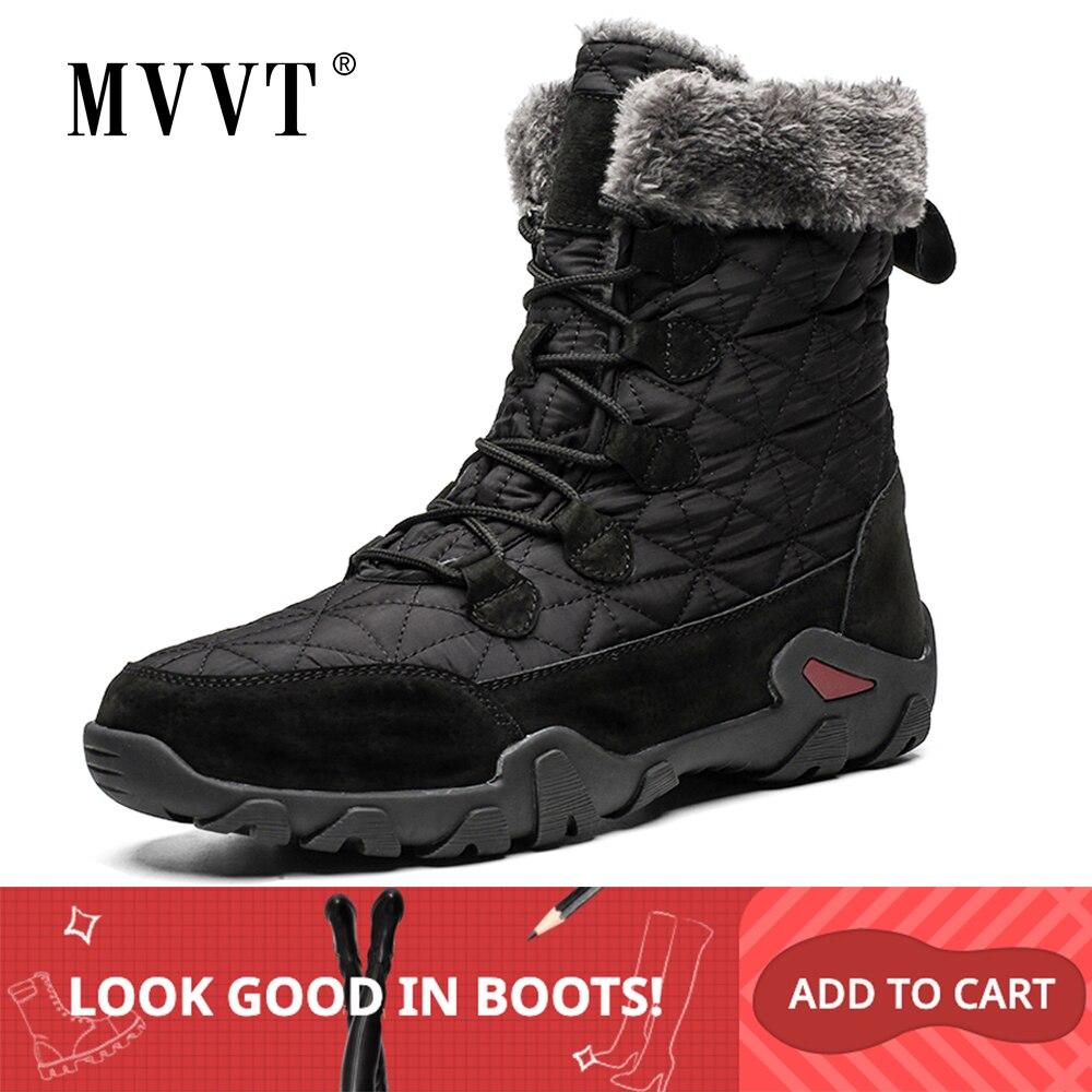 Super Warm Winter Men Snow Boots Genuine Leather Men Boots Outdoor Winter Waterproof Boots Men Shoes Botas Hombre