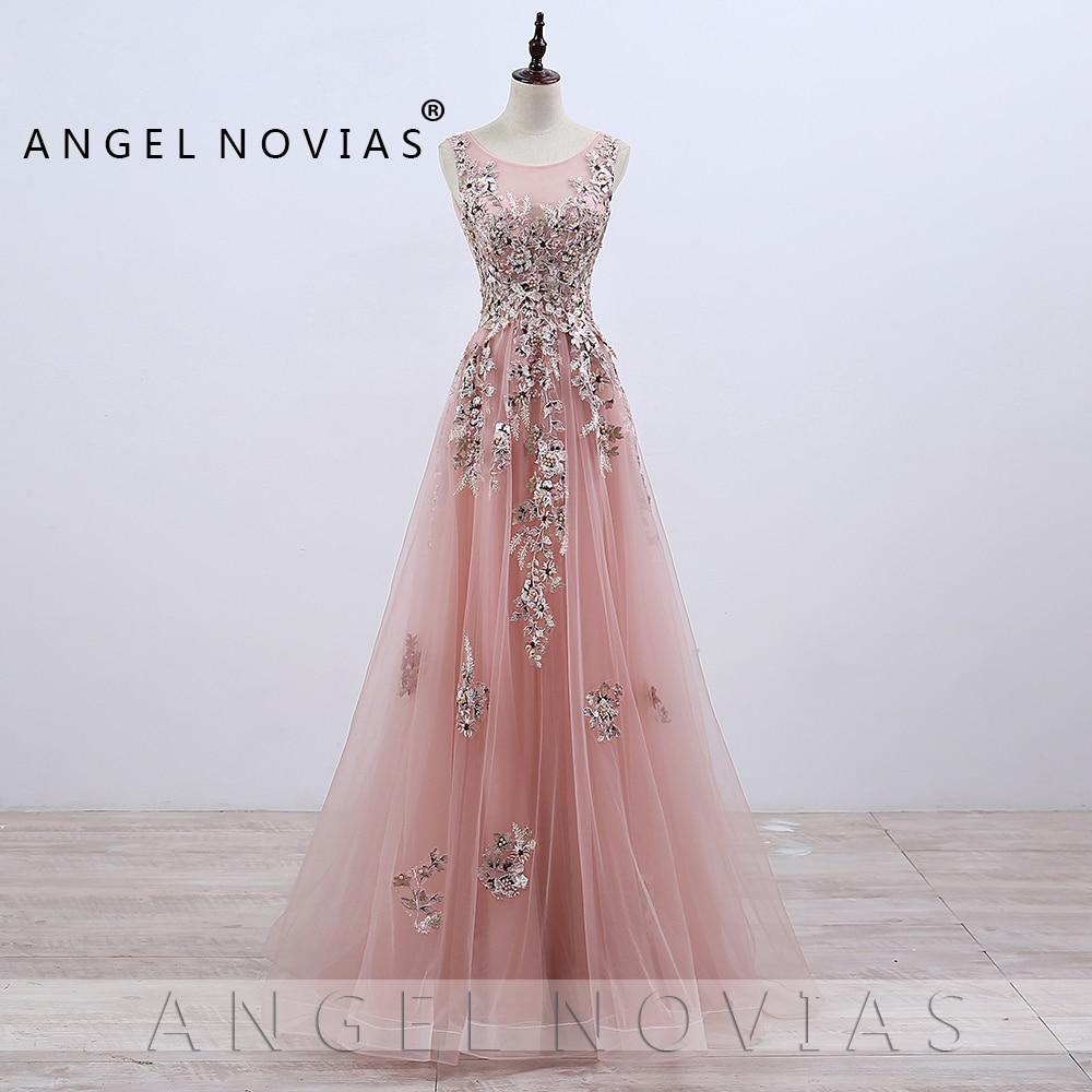 pink elegant prom dresses