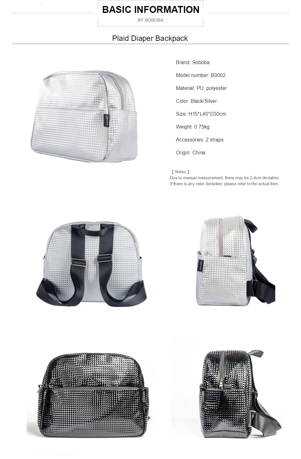 H94fc935d1d614564baea9686e9e6a175L Soboba Mommy Maternity Diaper Bags Solid Fashion Large Capacity Women Nursing Bag for Baby Care Stylish Outdoor Mommy Bags