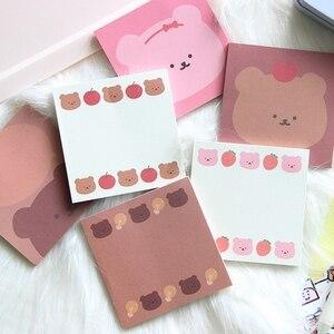 SIXONE 50 Sheets Korean Nice Candy Bear Strawberry Memo Pad School Planner DIY Notepad Paper Notes Kawaii Diary Stationery