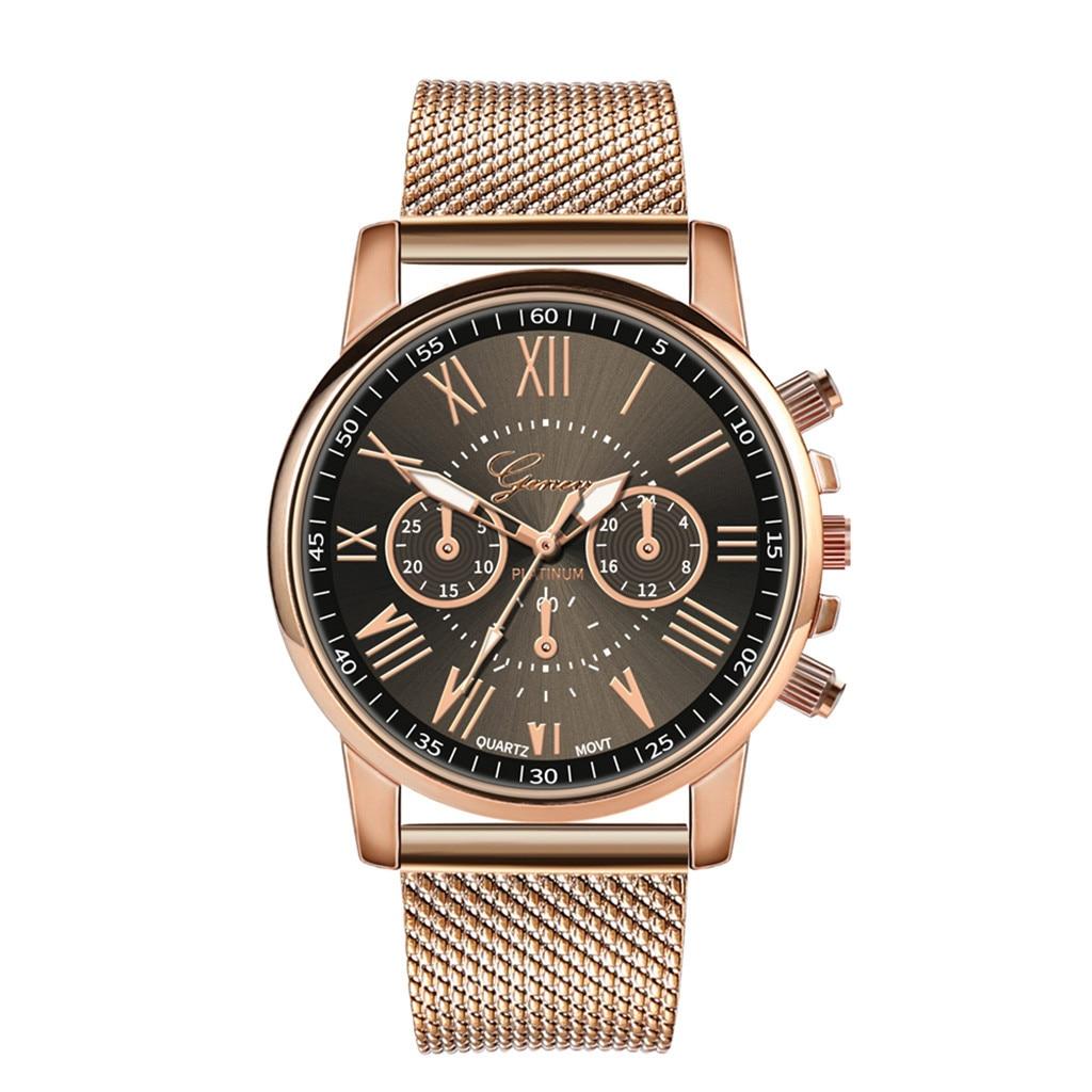 Роскошные Кварцевые часы для женщин и мужчин влюбленные пара Женские наручные часы Миланская нержавеющая сталь циферблат новое поступление - Цвет: B