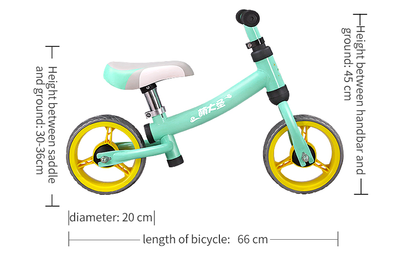 H94fcabe498c64498bf29ab6a672d55ffe Montasen Children  Push Bike  for 1.5- 3 Year Old Kids High Carbon Frame Balance Cycle for Boy Girls to Walk  Mini Push Bicycle
