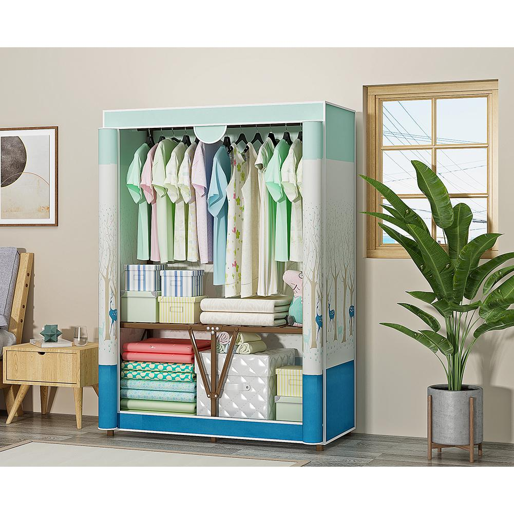 Modern Oxford Cloth Wardrobe Dustproof Storage Cabinet Folding Closet Bedroom Furniture 95*45*165cm