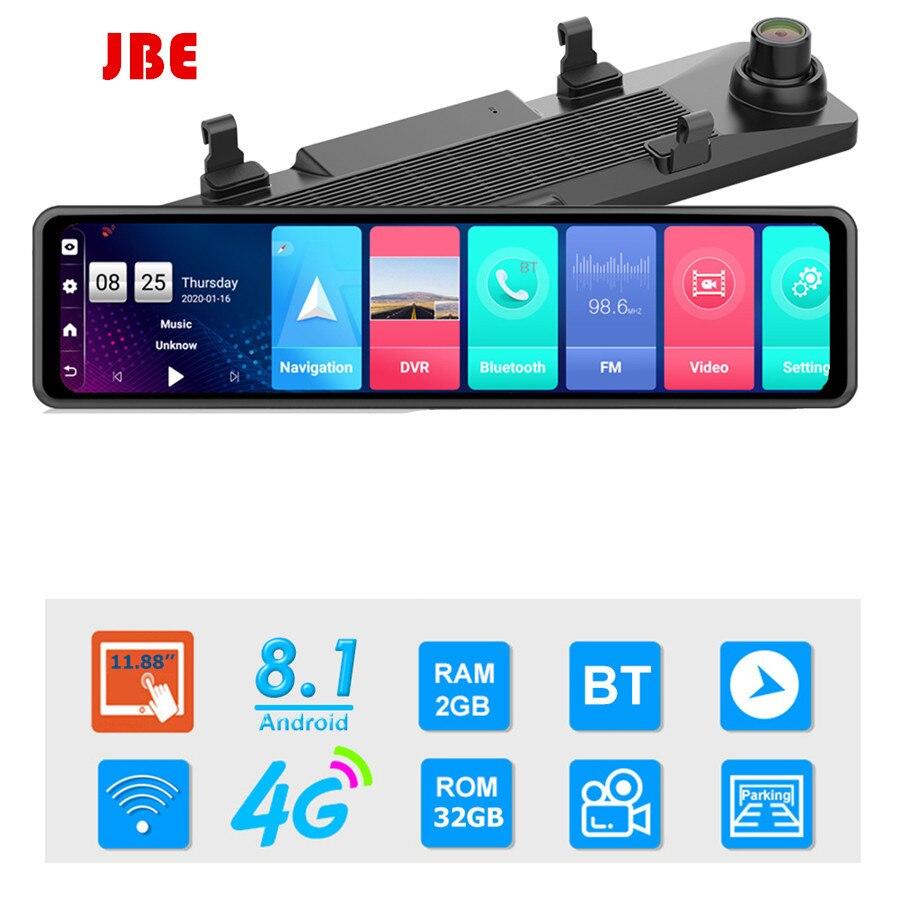 Новинка, 12 дюймов, 4G, Android, зеркало заднего вида, Автомобильный видеорегистратор HD 1080P, GPS, WIFI, ADAS, видеорегистратор с двумя объективами, Автомо...